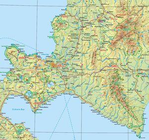 Touristische Karte von Hokkaido (Japan), entwickelt von Jonas Siems