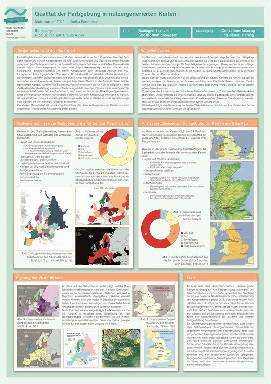 Poster: Farbgebung nutzergenerierter Karten – Eine Untersuchung zur Qualität der Farbanwendung im Bereich Webmapping 2.0 am Beispiel von zwei ausgewählten Web-Editoren