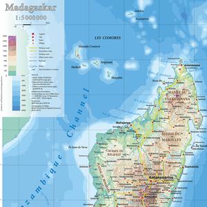 Kartenausschnitt Madagaskar 1 : 5 000 000