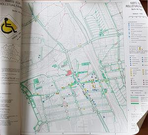 Karte für Rollstuhlfahrer von B. Walkowiak (1991)