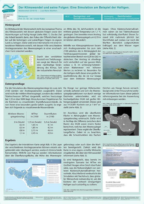 Poster Der Klimawandel und seine Folgen: Eine Simulation am Beispiel der Halligen