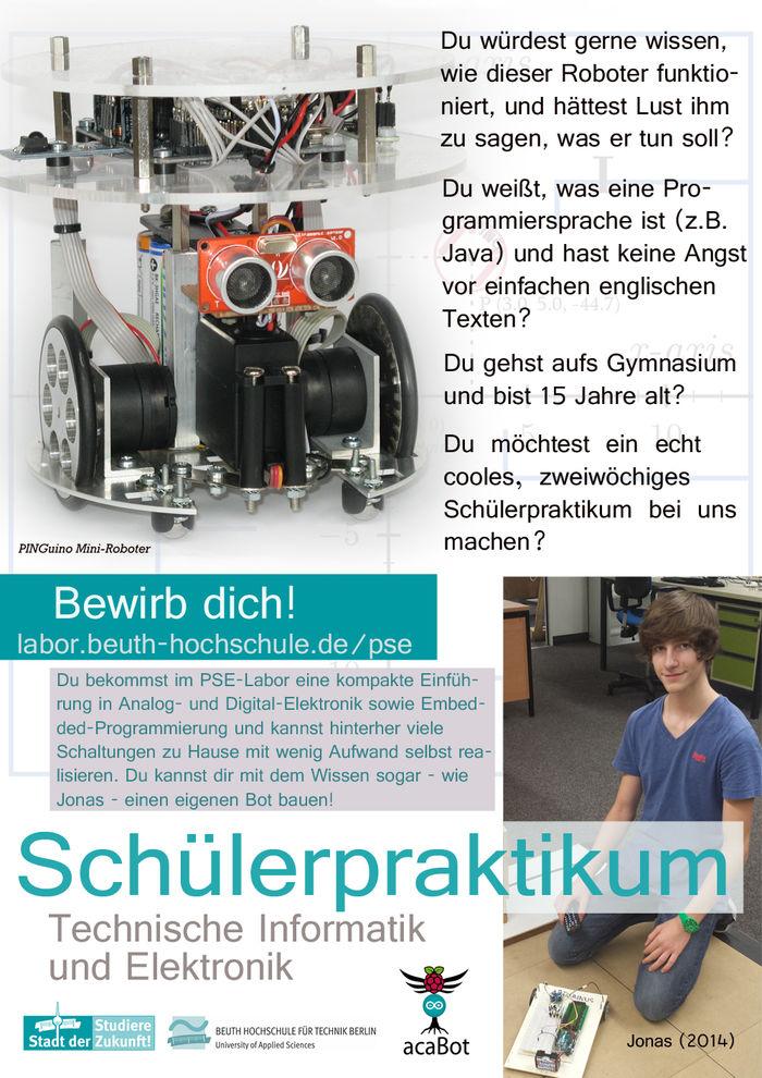 Schülerpraktikum Technische Informatik/ Internship For Pupils