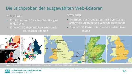 Präsentation: Farbgebung nutzergenerierter Karten – Eine Untersuchung zur Qualität der Farbanwendung im Bereich Webmapping 2.0 am Beispiel von zwei ausgewählten Web-Editoren