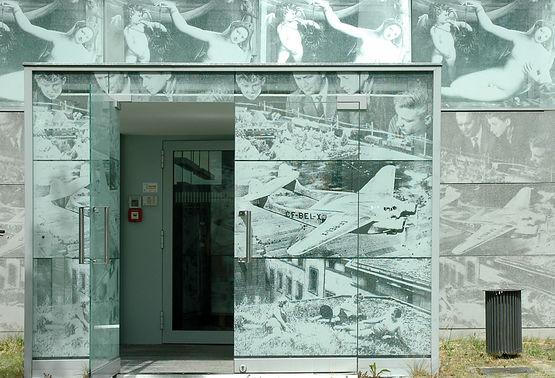 Bibliothek HNE Eberswalde / Siebdruck auf Beton