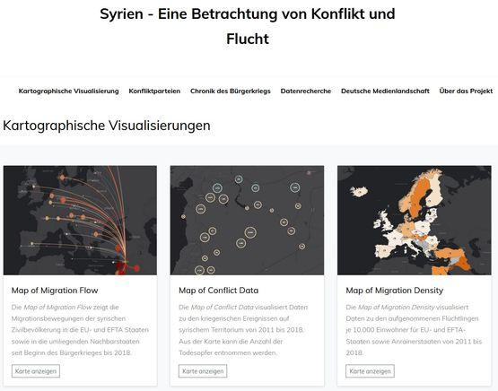 Web-Präsentation: Visualisierung von Migrations- und Konfliktdatensätzen am Beispiel des syrischen Bürgerkrieges