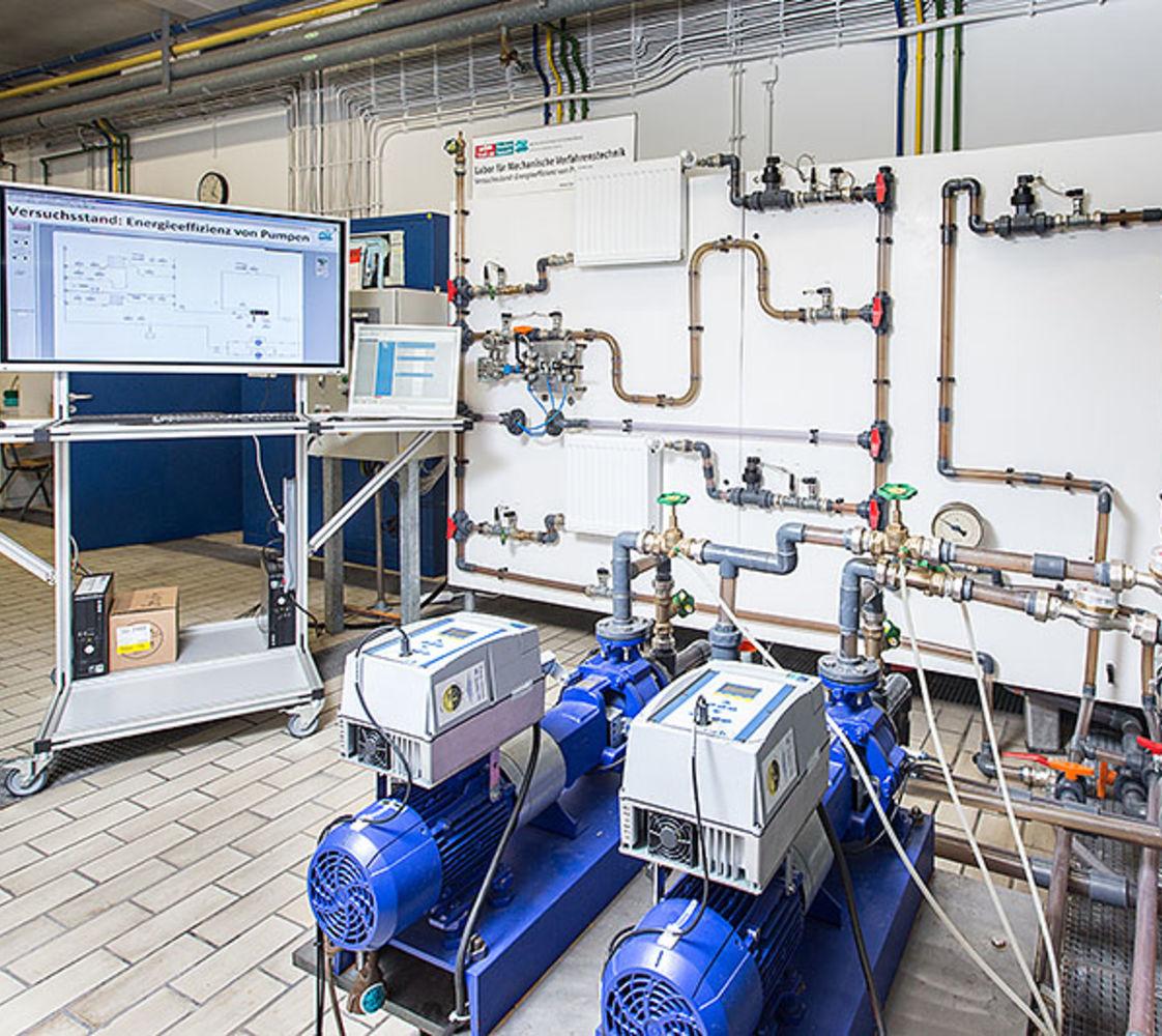 Gesamtanlage Energieeffizienz Pumpen