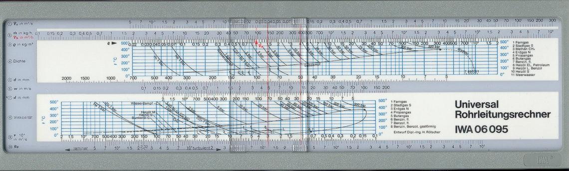 Universal-Rohrleitungsrechner zur Planung und Auslegung von Rohrleitungen - Entwurf: H. Rötscher