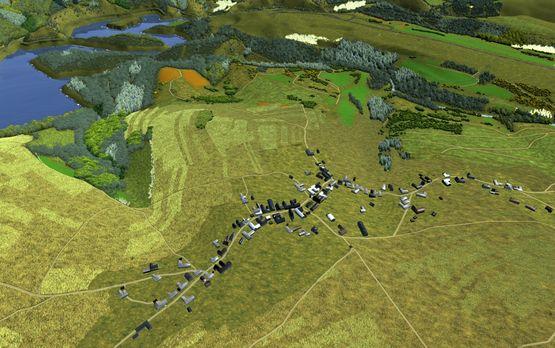 Das ehemalige Dorf Wollseifen, von Matthias Ludwig aus Interviews und alten Fotos rekonstruiert (VNS, 2009)