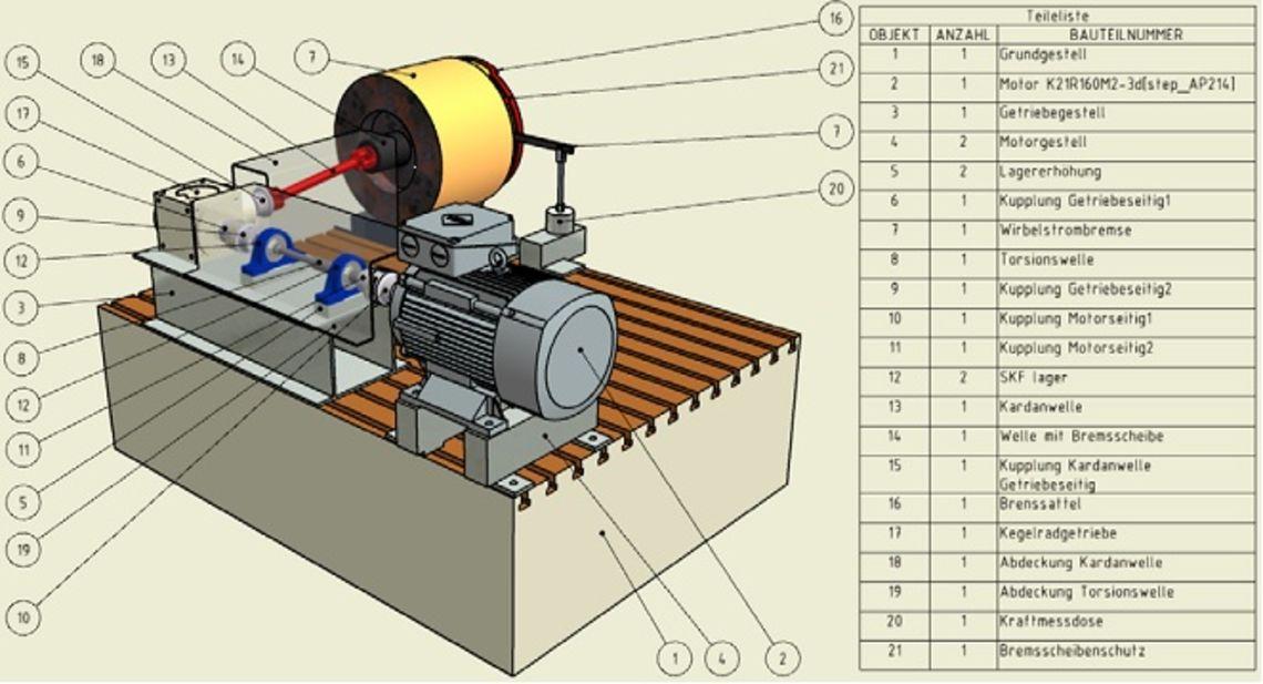 Skizze Kegelradgetriebe