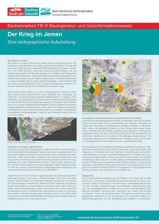 Poster: Der Krieg im Jemen – eine kartographische Aufarbeitung