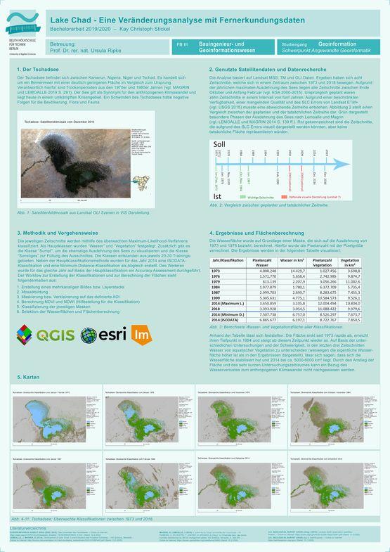 Poster: Lake Chad – Eine Veränderungsanalyse mit Fernerkundungsdaten