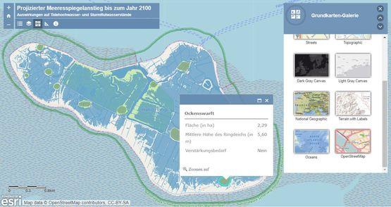 Web-Anwendung Der Klimawandel und seine Folgen: Eine Simulation am Beispiel der Halligen