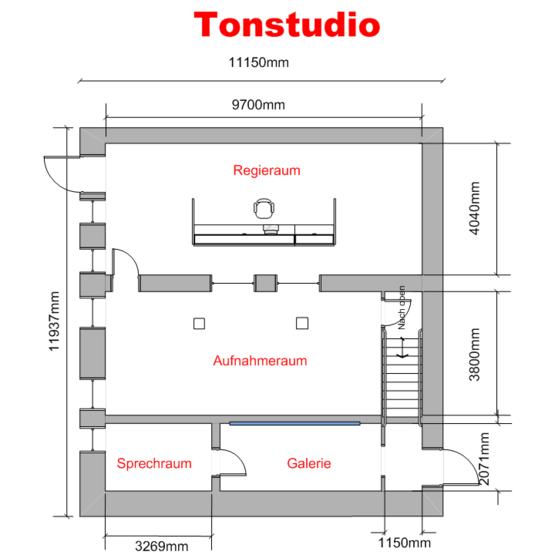 Aufbau Tonstudio